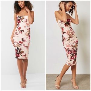 Missguided | Floral Strappy Midi Dress